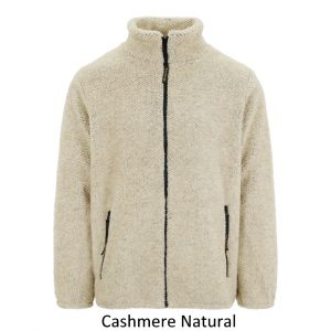 Sherpa Fleece Jacket in Natural Cashmere