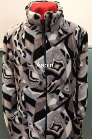 Micro Velour Fleece Jacket in Aspen