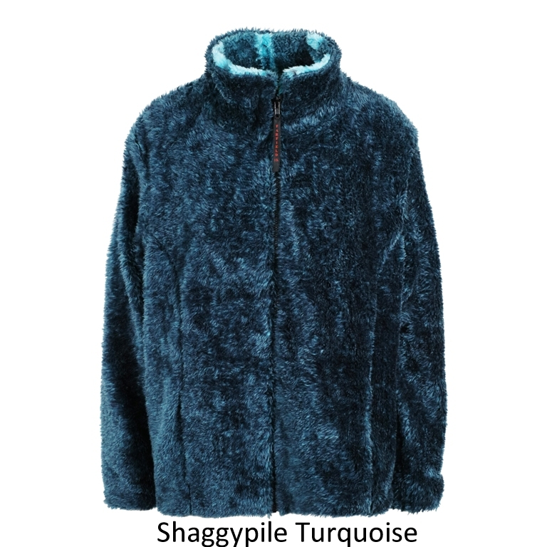 Shaggypile Fleece Jacket in Turquiose