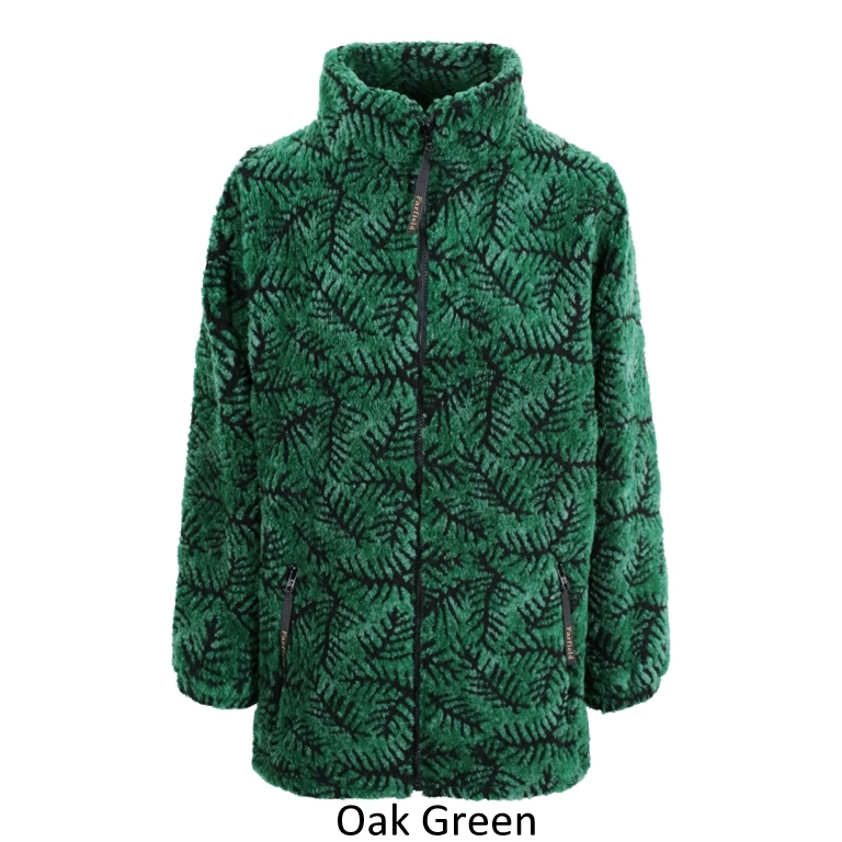 Ladies Micro Velour Fleece Jacket in Green Oak