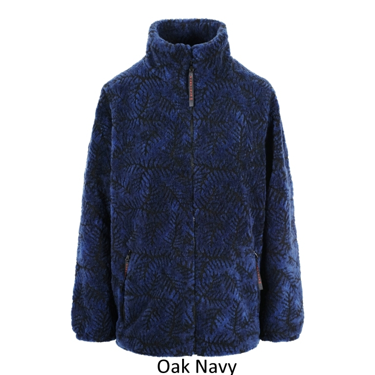 Ladies Micro Velour Fleece Jacket in Navy Oak