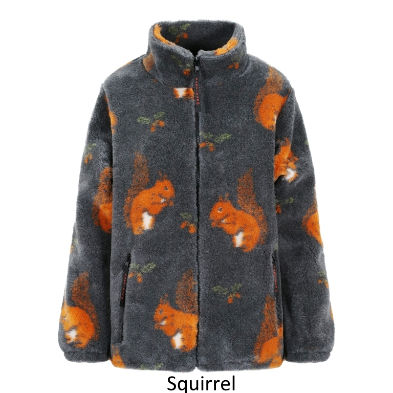 Ladies Micro Velour Fleece Jacket in Red Squirrel