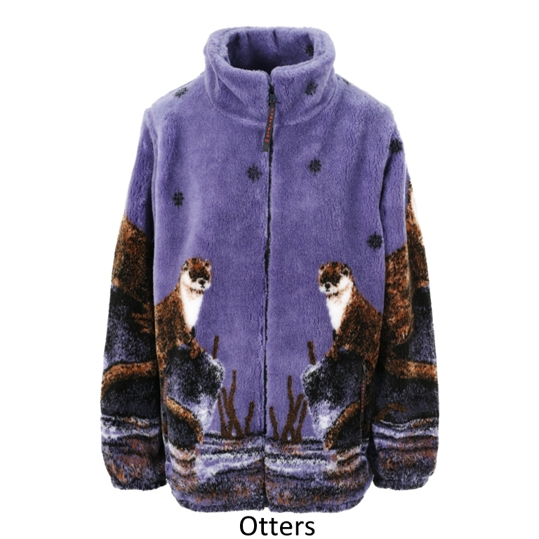 Ladies Micro Velour Fleece Jacket in Otters