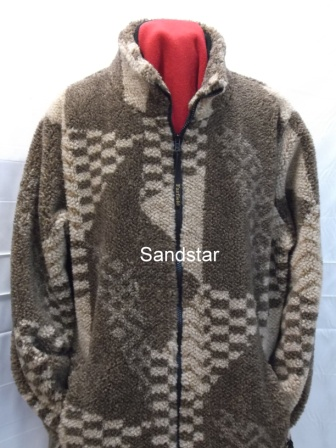 Sherpa Fleece Jacket in Sandstar