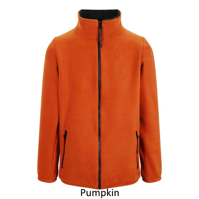 Ladies Fleece Jacket in Pumpkin