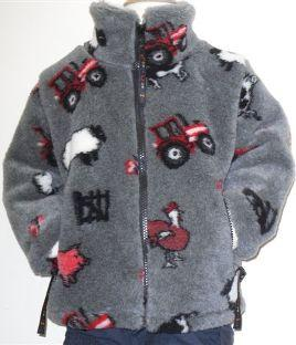 Childs Micro Velour Fleece Jacket in Farmyard