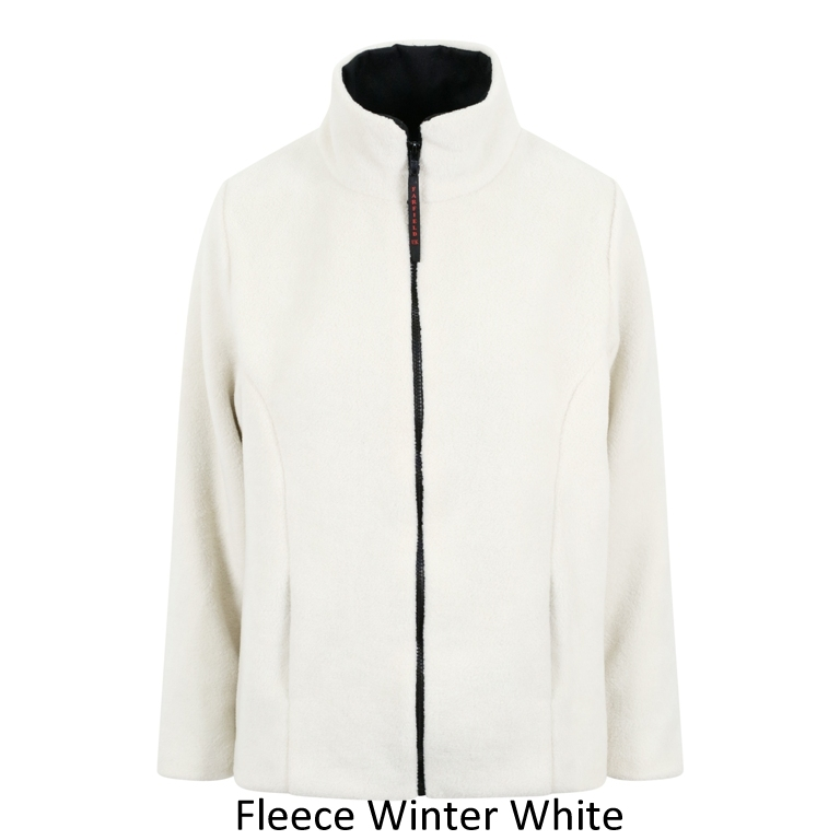 Ladies Semi Fitted Fleece Jacket in Winter White