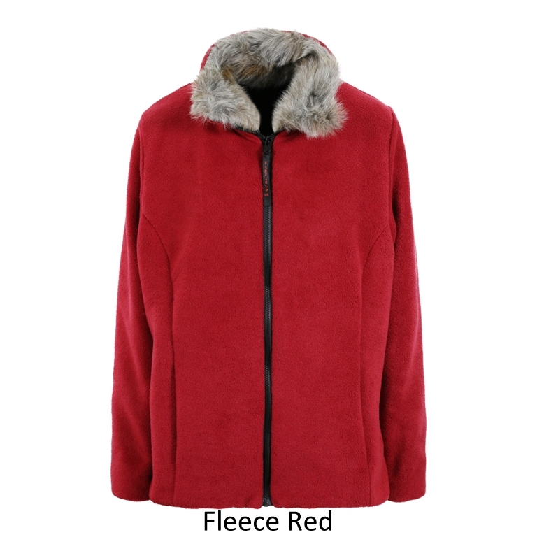 Ladies Semi Fitted Jacket in Fleece Red