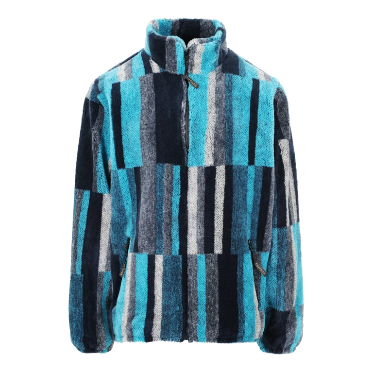 Mens Micro Velour Jacket in Turquoise Rhue