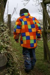 Childs Micro Velour Jacket in Patchwork