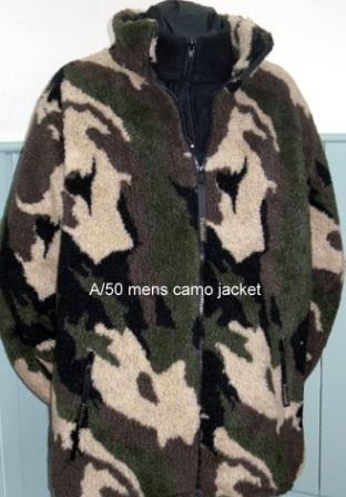 Mens Sherpa Fleece Jacket in Camo