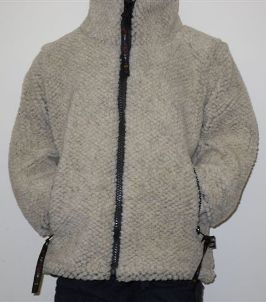 Childs Sherpa Fleece Jacket in Natural Cashmere