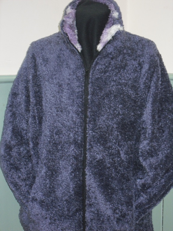 Ladies Semi Fitted Shaggypile Jacket in Lavender
