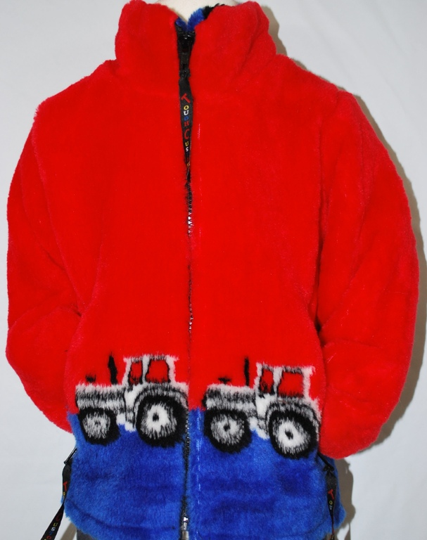 Child' Tractors fleece jacket