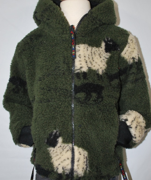 Childs Sherpa Fleece Jacket Sheep & Lamb