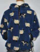 Childs Sherpa Fleece Jakcet Blue Sheep & Dog